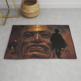 Gandhi - the walk Rug