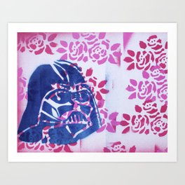 Vader in the Flowers Art Print