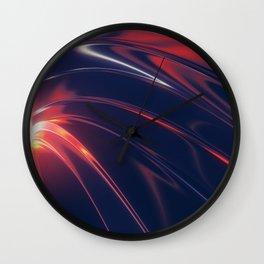 Iridescent Metal Wall Clock