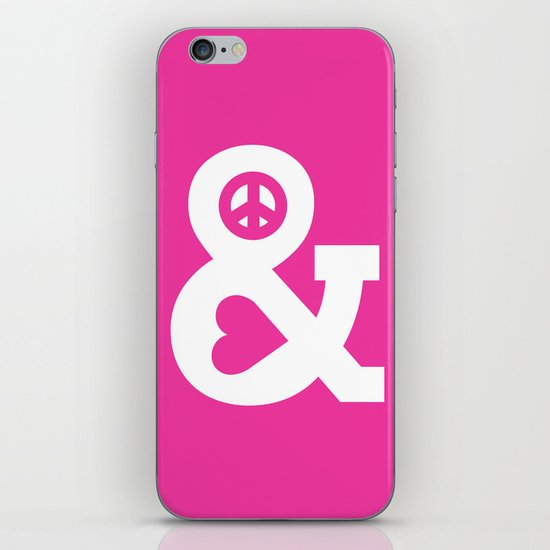 Peace And Love Pink Edition Iphone Amp Ipod Skin By