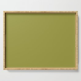 "Green khaki ""Golden Lime"" Pantone color Serving Tray"
