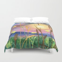 Flowers in a Field Duvet Cover