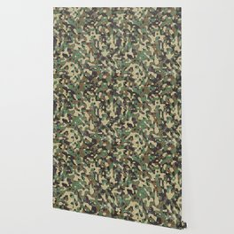 Distressed Army Camo Wallpaper