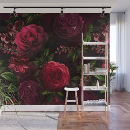 Vintage & Shabby Chic - Vintage & Shabby Chic - Mystical Night Roses Wall Mural