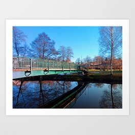 A bridge, the river and reflections II | waterscape photography Art Print