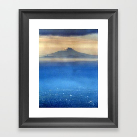 Fuji-san (富士山) original version Framed Art Print