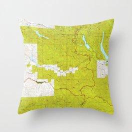 WA Snoqualmie Pass 243834 1975 topographic map Throw Pillow