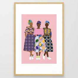 GIRLZ BAND Framed Art Print
