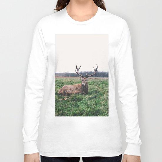 Deer #landscape Long Sleeve T-shirt