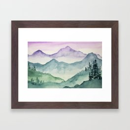 Hills and Valleys Framed Art Print