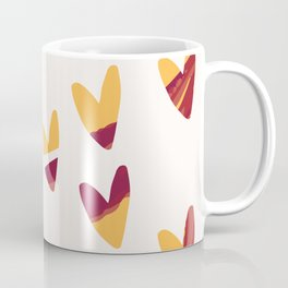 Pretty swirl hearts - magenta, yellow, fuchsia Coffee Mug