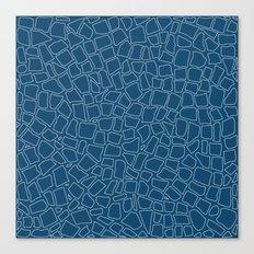 British Mosaic Blue Print Canvas Print