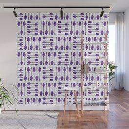 Purple Spoons Pattern Wall Mural