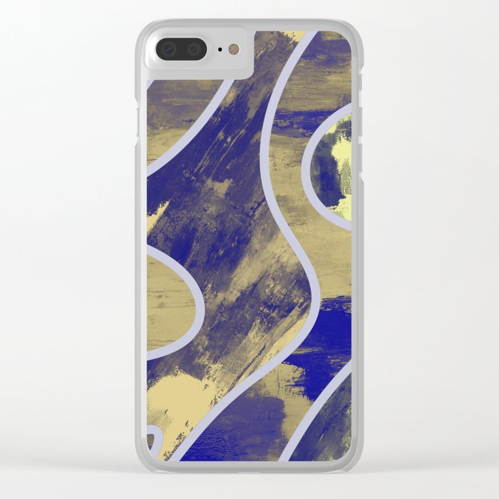 Textured Segments - Abstract, textured painting Clear iPhone Case