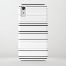 Simple Lines Pattern bw iPhone Case