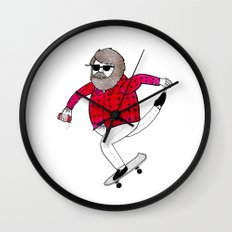 On how to overcome certain obstacles while skateboarding Wall Clock