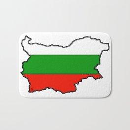 Bulgaria Map with Bulgarian Flag Bath Mat