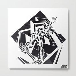 ONE INK SKATE Metal Print