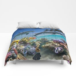 Coral Reef and Dolphins Comforters