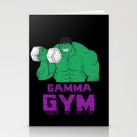 gym Stationery Cards featuring gamma gym by Louis Roskosch