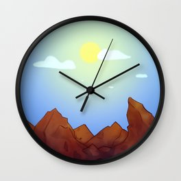 Mountains - Summer Day Variant Wall Clock