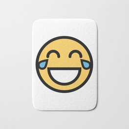 Smiley Face   LOL Crying Laughing Big Grin Face Bath Mat