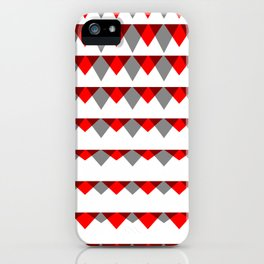 embers geometric pattern iPhone Case