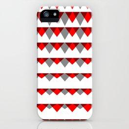 embers geometric pattern iPhone Case