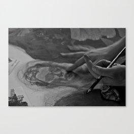artist's hands Canvas Print