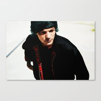 louis tomlinson Canvas Prints featuring Louis Tomlinson by Becca / But-Like-How