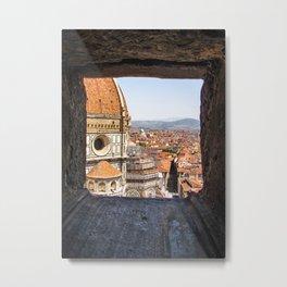 Stone View - Florence Cathedral - Cattedrale di Santa Maria del Fiore Metal Print