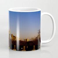 austin Mugs featuring Austin Skyline by Julia Goss Photography