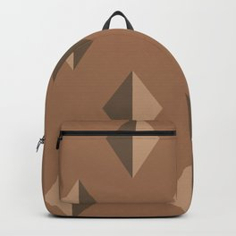 Geometry No. 2 -- Brown Backpack