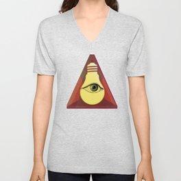 """""""Illuminati"""" bulb Unisex V-Neck"""