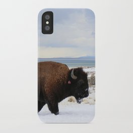 Same Ol' Lone Bison iPhone Case