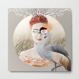 Bird Crane Metal Print