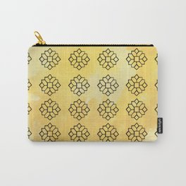 Geometrical Yellow Carry-All Pouch
