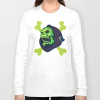 skeletor Long Sleeve T-shirts featuring Skeletor by Beery Method