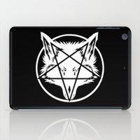 pentagram iPad Cases featuring Pentagram Wolf by Mohrne