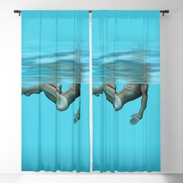 Swimming in the pool Blackout Curtain