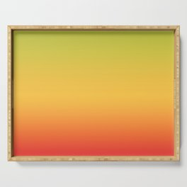 Tropical Colorful Gradient Pattern Serving Tray