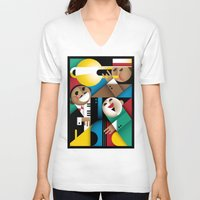 jazz V-neck T-shirts featuring Jazz by Szoki