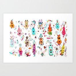 Mutations in animals Art Print