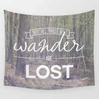 wander Wall Tapestries featuring Wander by Canoe Point Designs