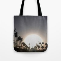 coachella Tote Bags featuring Coachella Ferris wheel by Annaelle