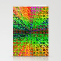 psychedelic Stationery Cards featuring Psychedelic by Debbie Clayton