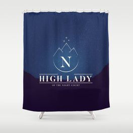 High Lady of the Night Court Shower Curtain