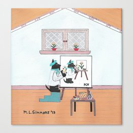 Pierre Chien Noir - Scotties - Scottish Terrier Canvas Print