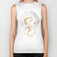 dragon ball Biker Tanks featuring Black Dragon by TxzDesign