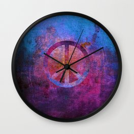 Peace III Wall Clock